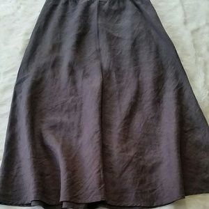 Eileen Fisher mid calf length irish linen skirt